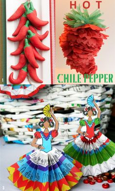 I'd love to make the paper chilipepper~  here's the whole thing ... 15 DIY Cinco De Mayo Party Ideas