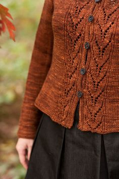 cecily's lovely bay and gable lace panel cardigan pattern...