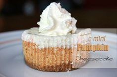 Every year for Thanksgiving I make these...and they're delicious! Mini Pumpkin Cheesecakes