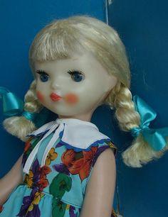 Кукла редкая ДЕВОЧКА с КОСИЧКАМИ колкая пластмасса слоник СССР