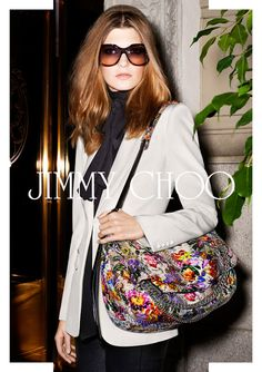0f6339eefd98 Jimmy Choo Sunglasses – Spring-Summer 2013 Campaign Floral Shoulder Bags