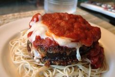 Slow Cooker Eggplant Parmesan - Flavorful!  Yummy!  www.getcrocked.com