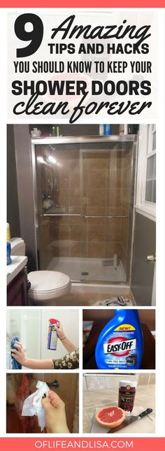 How to Clean Shower Doors | Clean shower doors, Clean shower and ...