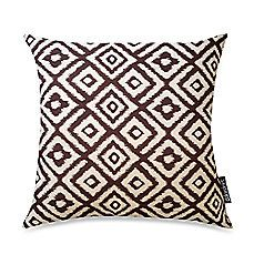 image of Diamond Recycled 20-Inch Square Toss Pillow in Brown