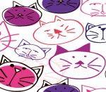 Wzór nr 65 -  dzieci Koty różowo-fioletowe