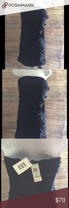 INC International concepts 100% silk Sz 8 NWT Beautiful classy, can be worn strapless or worn with straps. INC International Concepts Dresses Midi
