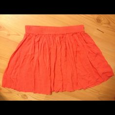 Aero coral skater skirt Aeropostale coral skater skirt. Very good condition. Very cute!  Enjoy  and don't be afraid to make an offer! I am willing to trade  Aeropostale Skirts Circle & Skater