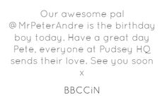 @MrPeterAndre #40th Happy 40th Birthday, Boy Birthday, Have A Great Day, Engagement, Twitter, Quotes, Quotations, Happy 40 Birthday, Engagements