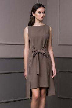 Simple Dresses, Casual Dresses, Short Dresses, Fashion Dresses, Linen Dresses, Day Dresses, Summer Dresses, Fashion Sewing, Girl Fashion