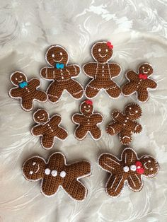 Gingerbread family -  Crochet Christmas