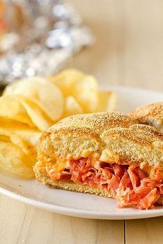 Chipped Ham BBQ Sandwich