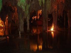 """A cenote (English: /sɨˈnoʊtiː/ or /sɛˈnoʊteɪ/; Spanish: [seˈnote]; plural: cenotes; from Yucatec Maya dzonot or ts'onot, """"well"""""""