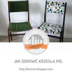 DIY - zrób to sam : METAMORFOZA - Jak odnowić KRZESŁO PRL Floor Chair, Dining Chairs, Diy, Flooring, Furniture, Home Decor, Decoration Home, Bricolage, Room Decor