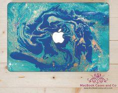 Peau de MacBook. Laptop Skin. Peinture marbrée