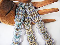 Micro macrame bracelets in spring colors by Sherri Stokey of Knot Just Macrame.