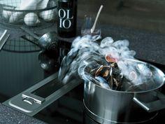 Cappa professionale in acciaio inox Cappa da piano Collezione Professional by BORA | design Willi Bruckbauer