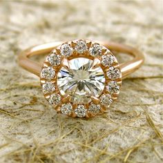 different engagement ring. love!