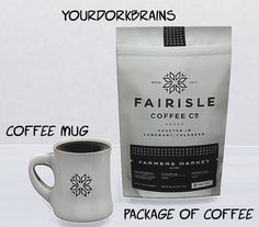 TS4 & TS3 Coffee and Mug Set | YourDorkBrains