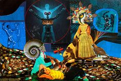 LARRY CARLSON, The Dreams of the Night Will Vanish by Dawn, collage on paper, 12x10in., 2012. | Flickr - Photo Sharing!