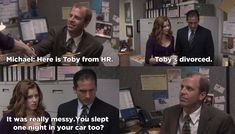 When he gave Toby a glowing introduction. | 21 Times Michael Scott Couldn't Contain His Hatred For Toby Flenderson