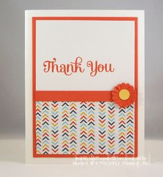 Great color combination from Stampin' Up! - Calypso Coral and So Saffron Card by Jessica Taylor (Ink It Up with Jessica)
