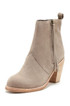 greige ankle boot