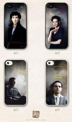 Iphone 5 case /choose one/  Sherlock, Moriarty, Watson, Irene Adler  DEFINITELY MORIARTY.
