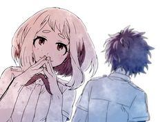 Boku no Hero Academia || Uraraka Ochako, Midoriya Izuku.