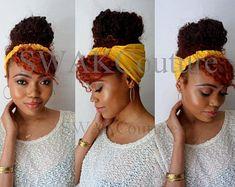 Satin Lined Headband Wrap, Wide Headband, Pineapple Bun Wrap, Ankara African Turban Wrap, - Choose Color - Headband wrap - Pelo Natural, Natural Hair Care, Natural Hair Styles, Half Braided Hairstyles, Headband Hairstyles, Black Hairstyles, Afro Hairstyles, Yoga Fitness, Headband Wrap