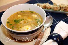 supa frantuzeasca Romanian Recipes, Romanian Food, Cheeseburger Chowder, Delish, Soup, Soups
