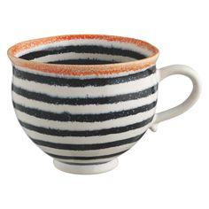 MAGDA Large striped pattern mug