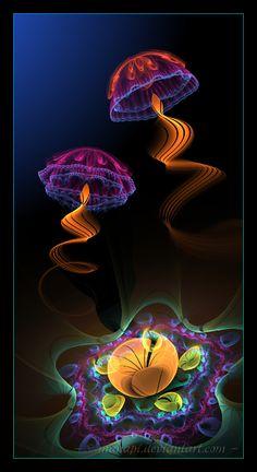 Jellyfish dance by manapi.deviantart.com on @DeviantArt