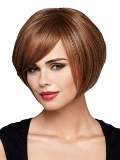 Aliexpress.com : Buy Short auburn Wigs with side bangs straight ...