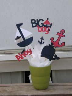 Nautical Theme Baby Shower Shapes  Nautical Theme by bonbow, $6.99