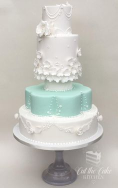 Retro Wedding Cake by Emma Lake - Cut The Cake Kitchen - http://cakesdecor.com/cakes/275491-retro-wedding-cake