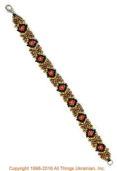 Gherdany Bead Jewelry # GBR1677  on AllThingsUkrainian.com
