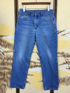 dca1cb7d Vintage Carhartt jeans size 34, 90s grunge jeans, 1990s workwear,  distressed faded denim, straight leg light blue jeans vtg, waist 34 34x31
