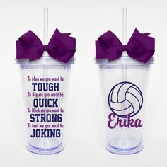 To Play Me Volleyball Quote Acrylic Tumbler by SweetSipsters