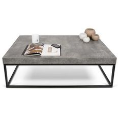 PETRA, Couchtisch und Beistelltisch: Beton Aspekt und Stahl, ohne konkrete – ent… PETRA, coffee table and side table: concrete aspect and steel, without concrete – designed by IN ES MARTINHO Home Coffee Tables, Concrete Coffee Table, Large Coffee Tables, Coffee Table Rectangle, Unique Coffee Table, Contemporary Coffee Table, Modern Coffee Tables, Contemporary Furniture, Beton Design