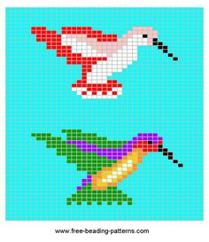 Hummingbird bead pattern.