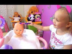 Новая ванна для кукол Купаем играем с куклой Tub to Bathe the dolls play...