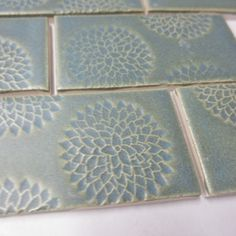 """2""""x4"""" Old Copper handmade tiles with Bloom texture from Mercury Mosaics for $14.00"""
