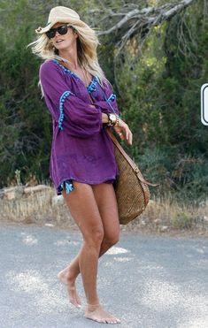 Elle MacPherson beach dress