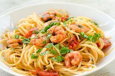 Shrimp Pasta Recipes - Italian Shrimp Pasta - Rasa Malaysia  |Authentic Italian Seafood Pasta Recipes