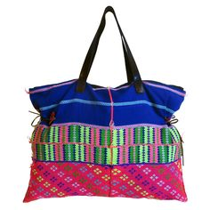 The Cheewit Cheewah handbag is constructed from the fabric of a hand made ceremonial shirt from the hill tribes of Northern Thailand. Northern Thailand, Creative Inspiration, Gym Bag, Bright, Colorful, Shoulder Bag, Handbags, Fashion Outfits, Jewellery