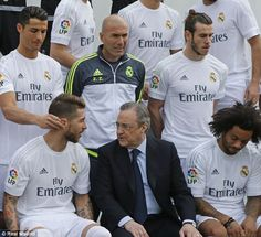 The new Real manager stood behind the Florentino Perez, but Cristiano Ronaldo was causing mischief