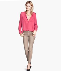 5-pocket, slim-fit pants in washed superstretch twill with regular waist and slim legs.  http://foxyblu.com/details/79917