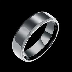 Classic Men Ring Stainless Steel Male Simple Design Black Titanium Ring Band Sizes 7 8 9 10 Free Shipping Black Rings Jewelry
