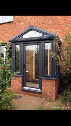 In need of brick porch designs uk? A garden porch gives an amazing and also pleasing living area throughout the summertime – possibly even into wintertime… Porch Uk, Front Door Porch, Porch Doors, Front Porch Design, Glass Front Door, House Porch, Porch Designs Uk, Upvc Porches, Sas Entree