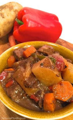 Classic Carne Guisada (Mexican Beef Stew) - Can also be made in the crockpot!